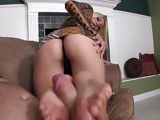 Footjob before b before cuck POV