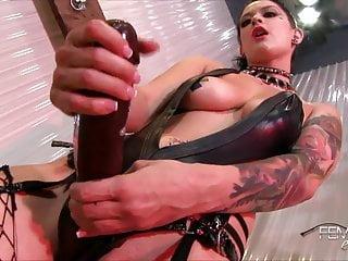 Blooper Katrina Jade's Obese Diabolical Strap-on Cock!