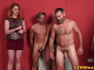 British femdoms tugging guys almost cfnm organize