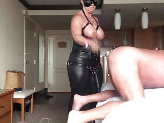 Wed dominates me strapon added to disciplining