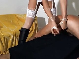 herman housewife brutally milking her husband