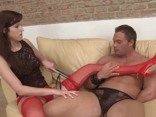 Foot Mistress Pegging Ass Of Her Bound Sub