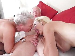 Grandpa fucks 2 Mature Women