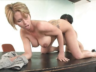 Young Busty girl got punished in femdom by a brunette hot mom