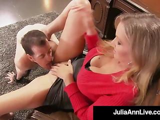 Cock Teasing Cougar Julia Ann Won't Allow Sex Slave To Cum!