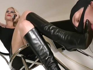 Dianas Boot Licking Slave