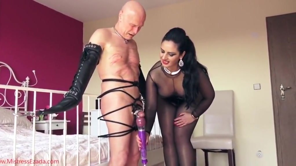 Mistress Ly Lets Her Slave Cum