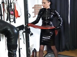 A vinyl domina whips their way depending